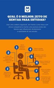 sentar estudar postura