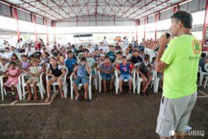 Magrão durante clínica de bumerangue em Palmas-To.